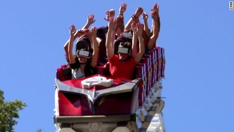 Take a ride on a virtual reality roller coaster
