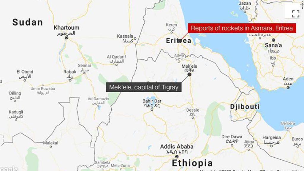 Forces from Ethiopia's Tigray region bombed Eritrean capital, Tigray leader says