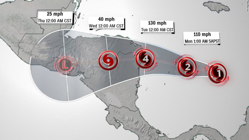 Hurricane Iota expected to hit Central America as an 'extremely dangerous' Category 4 storm