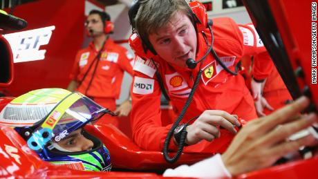 Rob Smedley (right) was previously the race engineer for Felipe Massa (left) at Ferrari and Williams F1, before he founded Electroheads and became director of data systems for F1.