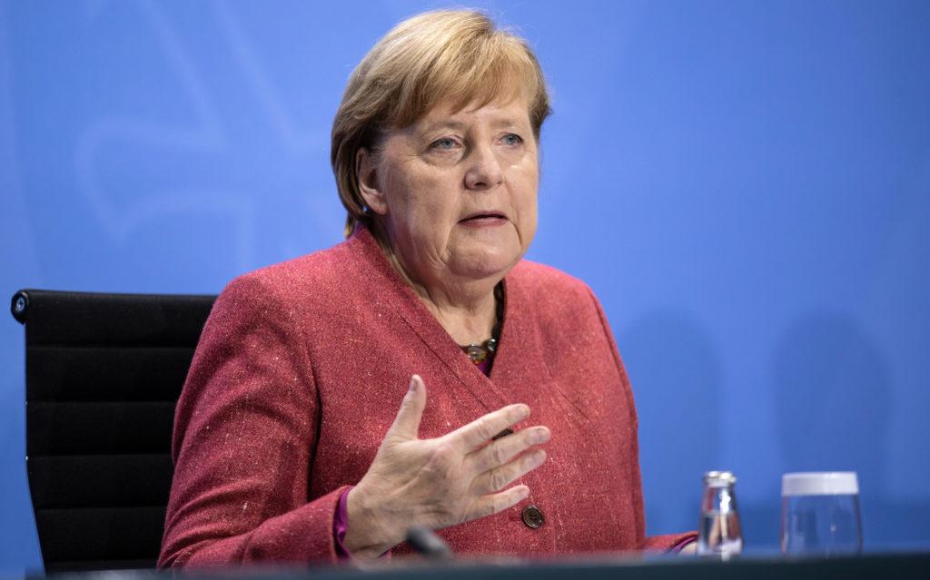 German Chancellor Angela Merkel speaks to the media on November 16 in Berlin.