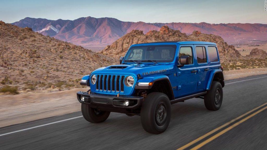 Jeep unveils high-horsepower V8 Wrangler