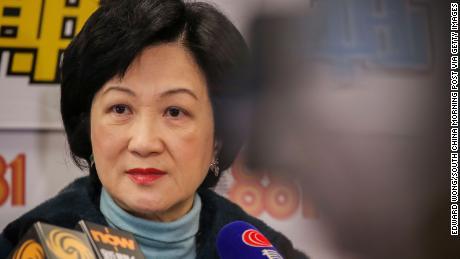 Pro-Beijing lawmaker Regina Ip.