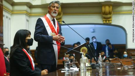 Sagasti represents the Purple Party (Partido Morado).