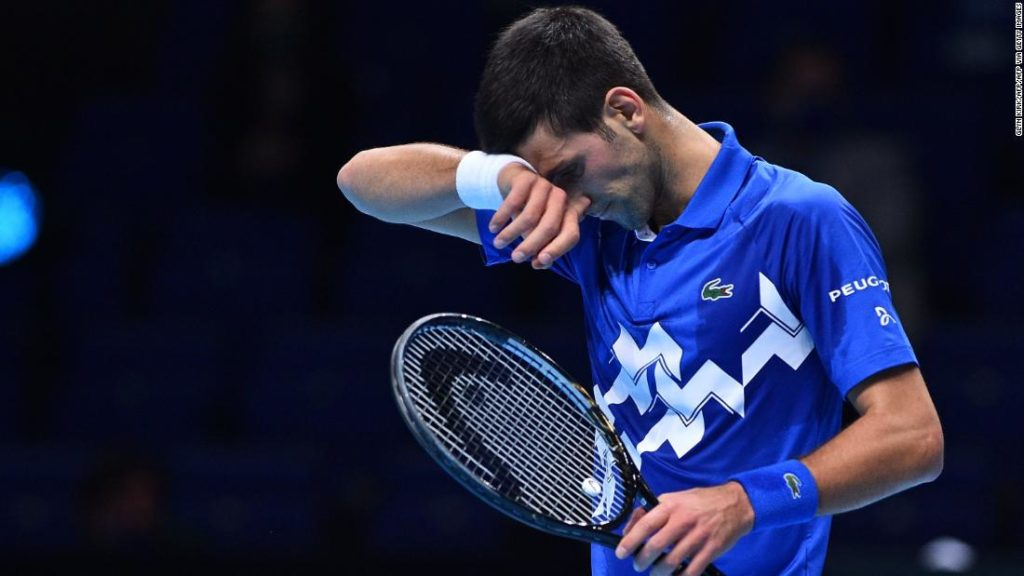 Novak Djokovic stunned by Daniil Medvedev at the ATP Finals