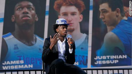 """The Warriors selected 7'1"""" center James Wiseman with the second overall pick in Wednesday's NBA Draft, and expectations will be high for him to fill the gap left by Thompson's latest injury."""