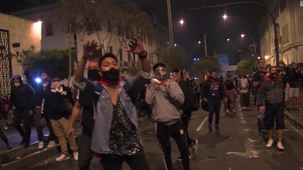 Violent protests in Peru amid political turmoil as country has 3 presidents in one week