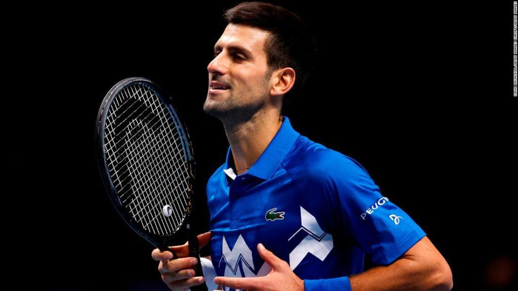 Novak Djokovic completes ATP Finals last four after victory against Alexander Zverev