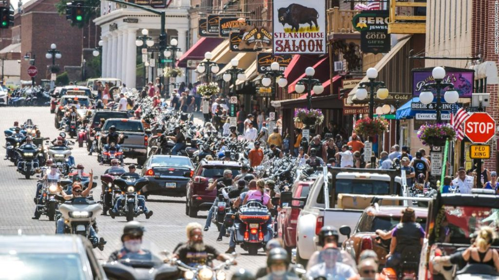 Sturgis motorcycle rally in South Dakota led to a Covid-19 outbreak in Minnesota, new report says
