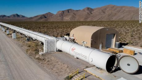 Virgin Hyperloop has a 500-meter test track outside Las Vegas, Nevada.