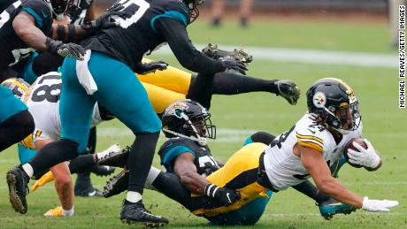 The Pittburgh Steelers' running back Benny Snell scored the team's only rushing touchdown.