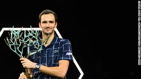 Medvedev's recent run of form also saw him clinch the Paris Masters.