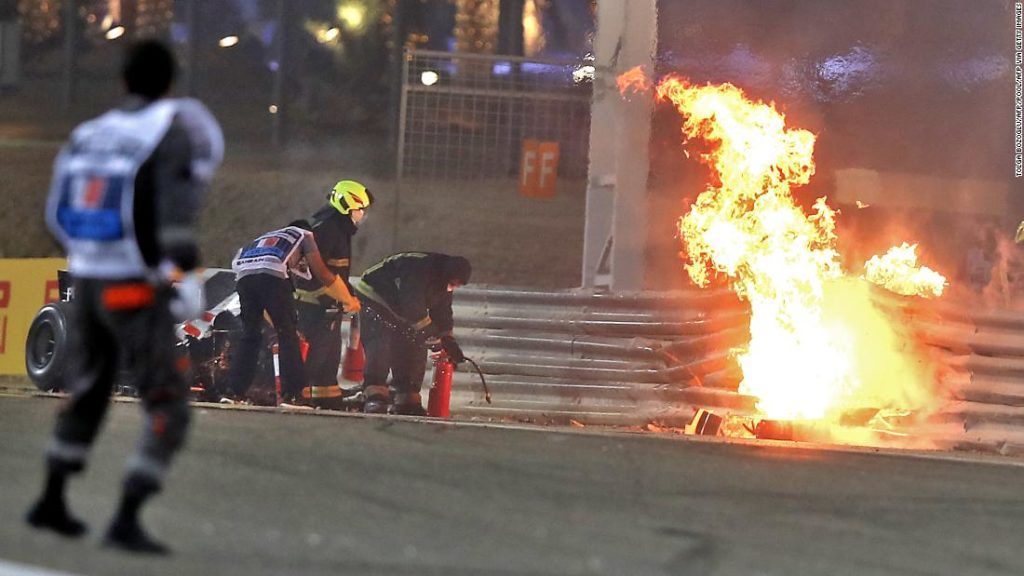 Romain Grosjean hails halo as the 'greatest thing' in F1 after horrific crash at Bahrain GP