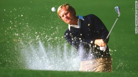 David Cannon took this image of Jack Nicklaus hitting out of a bunker at the 1986 Masters.