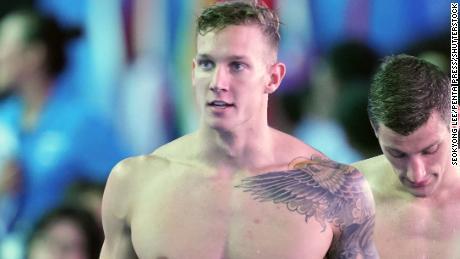 Dressel during the men's 4x100m Medley Relay Final.