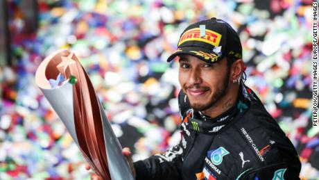 """Hamilton dedicated his victory in Turkey to """"all the kids out there who dream the impossible."""""""