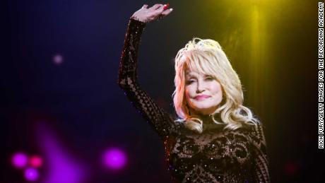 Dolly Parton honored as MusiCares Person of the Year in Los Angeles, California in 2019.