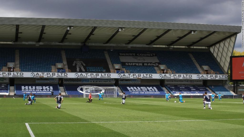 Fans at Millwall boo players taking a knee on return to stadium