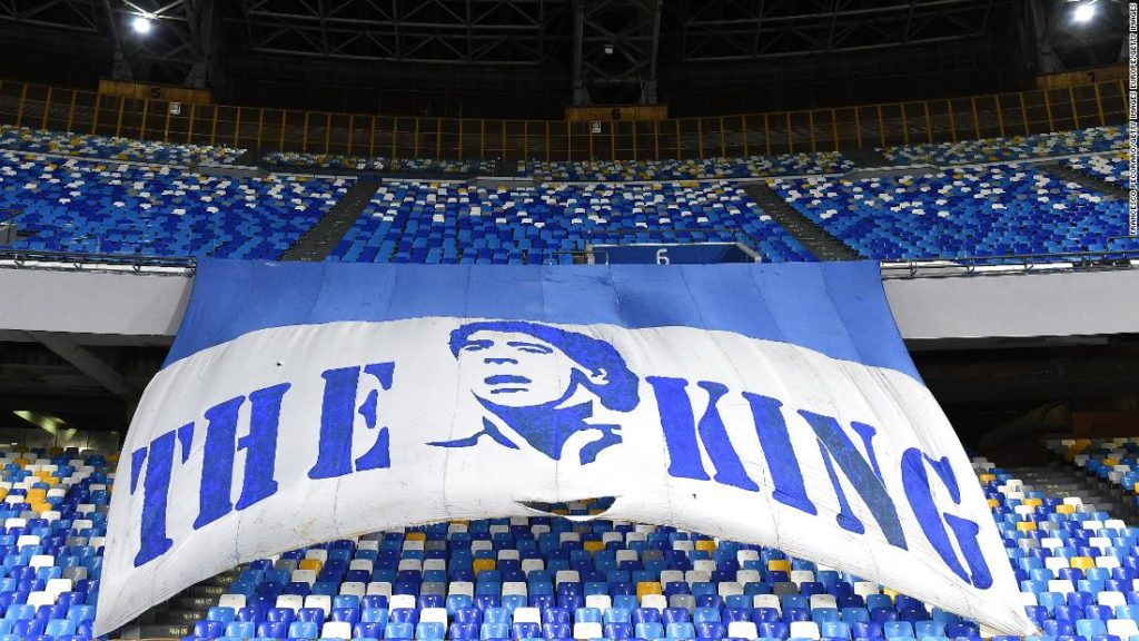 Naples renames Napoli stadium after Diego Maradona