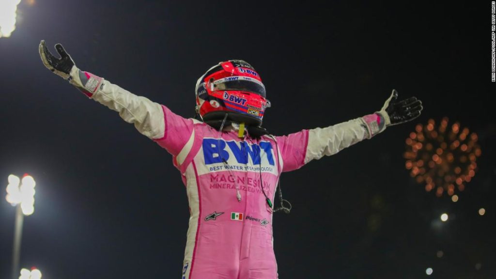 Sergio Perez claims maiden Formula One win at Sakhir Grand Prix as tire mix-up denies George Russell