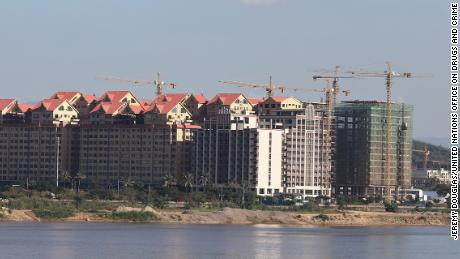 More construction projects underway in the special economic zone are seen in this photograph from November 2020.
