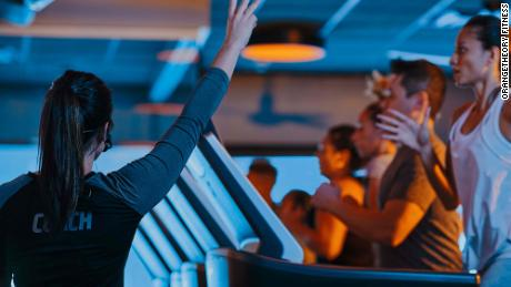 Before the pandemic, Orangetheory members would work out in close proximity on treadmills, rowing machines and with weights inside studios.