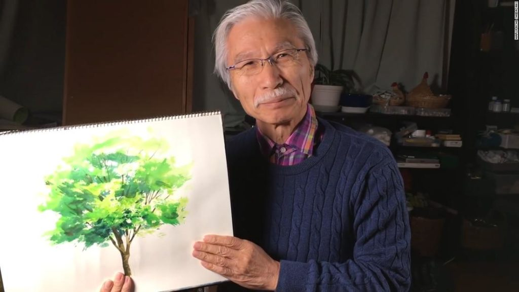 The 'Japanese Bob Ross': How a 73-year-old artist took YouTube by storm