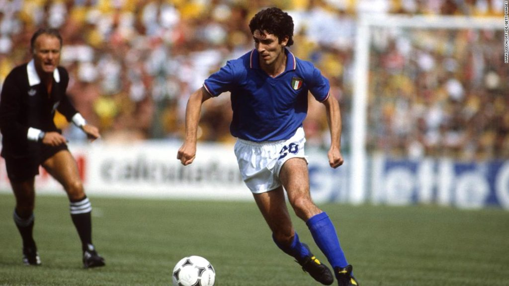 Paolo Rossi, Italian soccer great and World Cup winner, has died at the age of 64