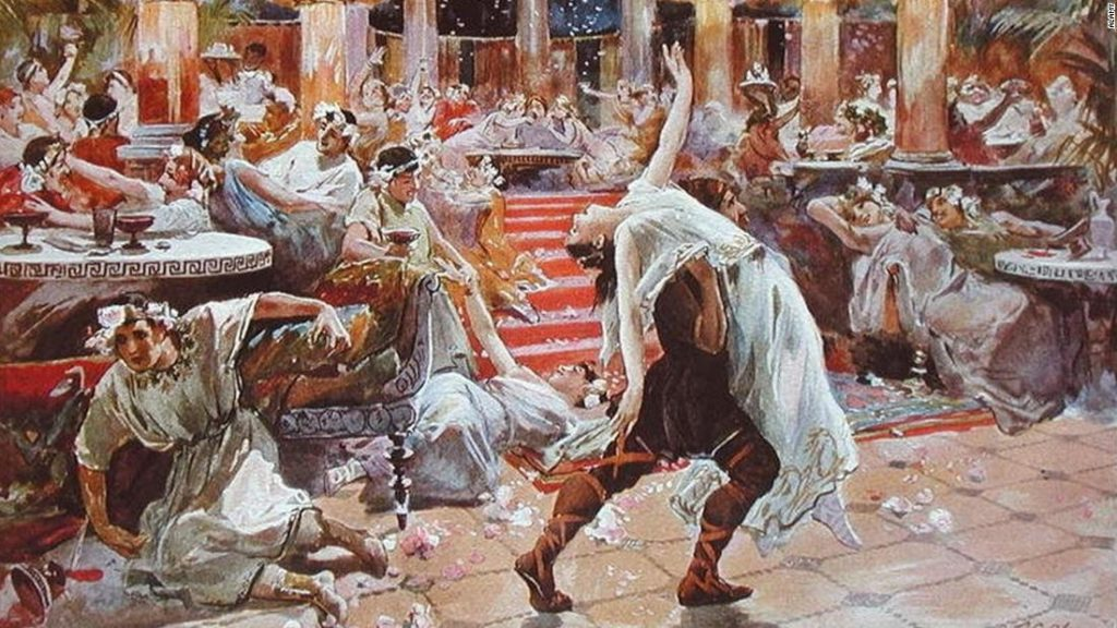 The ancient Roman banquet celebrated shock, awe and carpe diem
