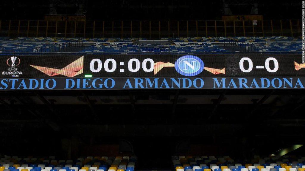 Napoli plays first match at the newly renamed Stadio Diego Armando Maradona