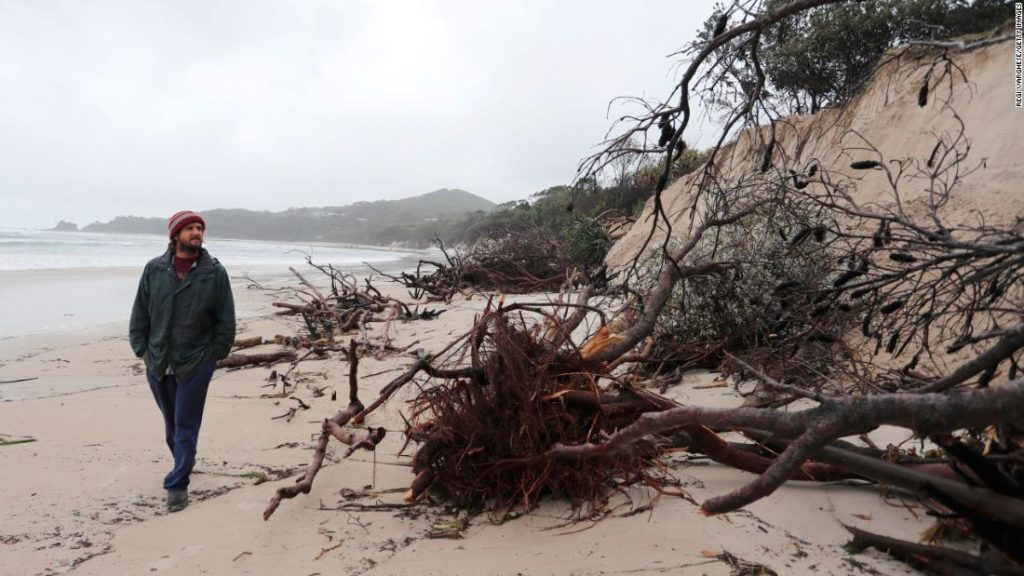 """Australia's Byron Bay beaches """"severely eroded"""" as heavy rain batters the country"""