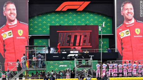 The 2020 Turkish Grand Prix brought Vettel his only podium of the year in difficult racing conditions.
