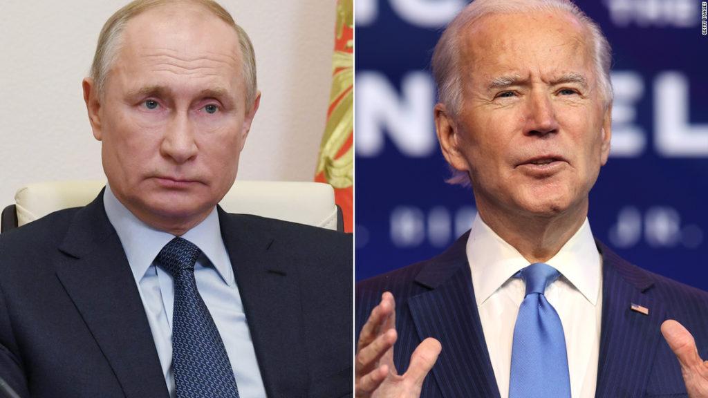 Vladimir Putin congratulates Joe Biden on US election victory