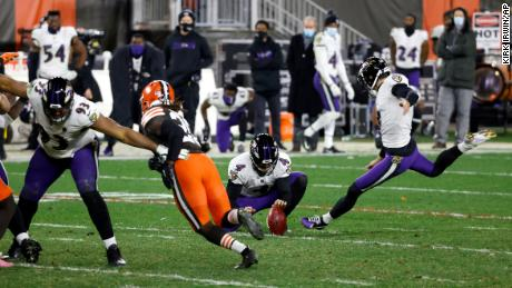 Justin Tucker was calm enough to slot home the game-winning field goal.