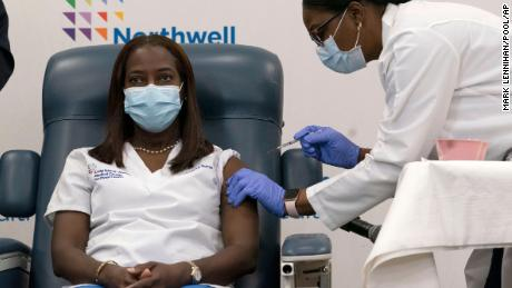 ICU nurse in New York among the first people in the US to get authorized coronavirus vaccine
