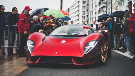 The De Tomaso P72 is powered by a supercharged V8 engine.