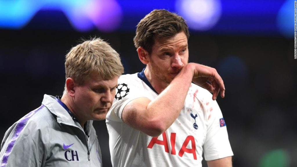 Jan Vertonghen says he suffered 'headaches and dizziness' for nine months after head injury