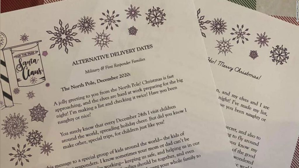 This mother makes sure Santa sends reassuring notes to children who can't celebrate Christmas on December 25th
