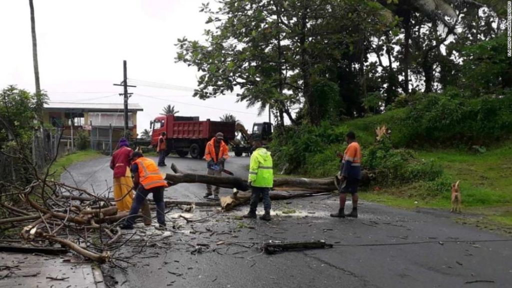 Cyclone Yasa rips through Fiji, killing at least 2 people and destroying homes