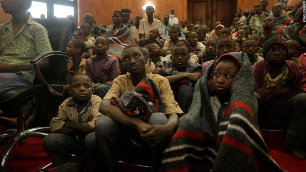 Rescued Nigerian schoolboys arrive at state government house