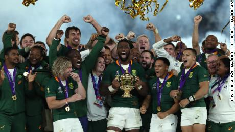 South Africa won the Rugby World Cup in 2019.