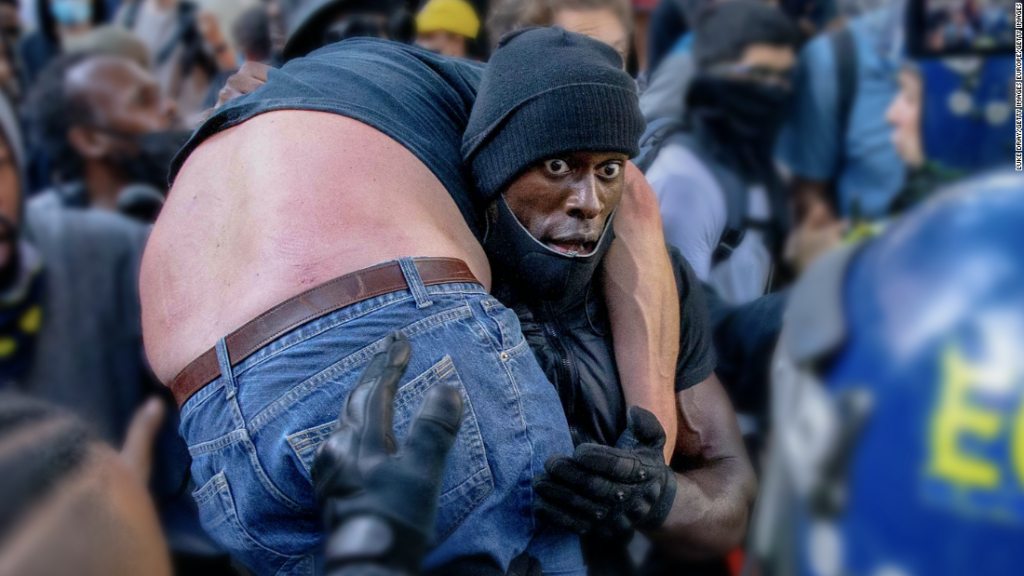 Black Lives Matter demonstrator's rescue is this year's Most Inspiring Moment