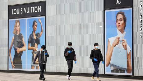 Chinese shoppers are giving luxury brands some hope