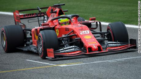 Mission Winnow branding featured prominently on Ferrari's car in Bahrain last year.