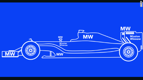 Ferrari's Mission Winnow branding at some of the races in 2019.