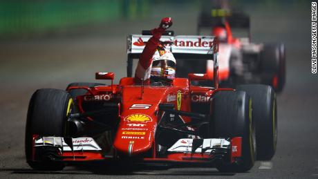 Sebastian Vettel earned three wins with Ferrari in 2015, his first season with the team.
