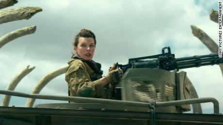 A scene from the trailer for Monster Hunter, which premiered in China on December 4 and stars Milla Jovovich (pictured).
