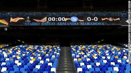 The stands bear the new name of the Stadio Diego Armando Maradona.