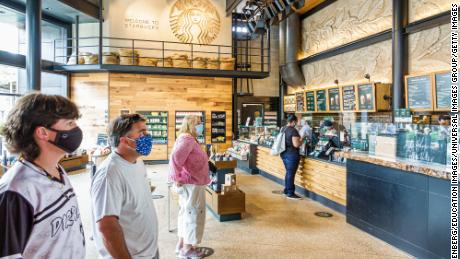 Starbucks plans to open about 22,000 stores in the next ten years