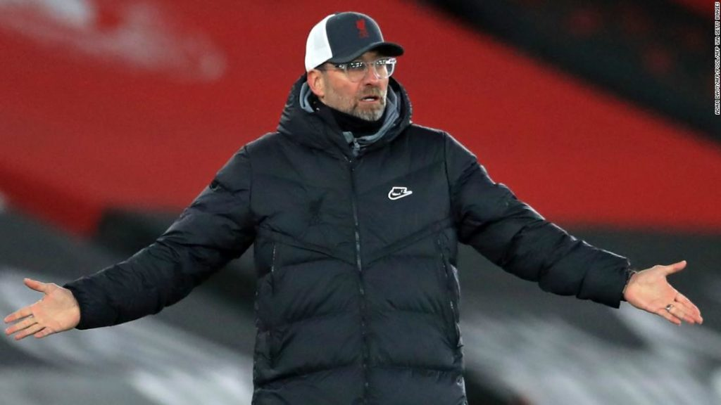 Jurgen Klopp: Liverpool boss takes a swipe at Manchester United after frustrating defeat